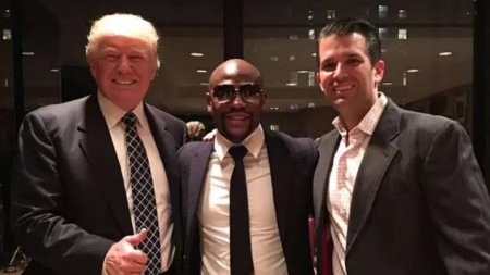 Floyd Mayweather visitó a Donald Trump en New York