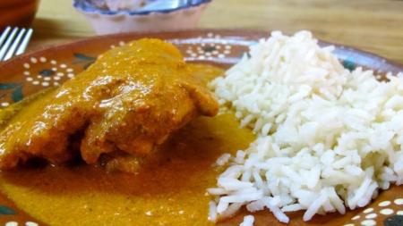 Pollo en Pipian mexicano