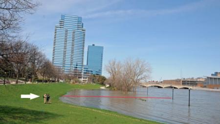 Advierten que corrientes del Grand River e inundaciones podían ser fatales