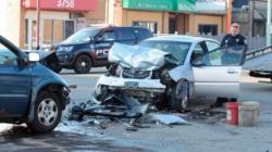 Varios heridos en accidente en avenida S. Division