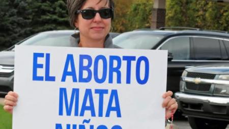 Manifestación contra el aborto