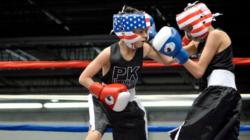 Primer round del torneo amateur de box de los guantes de oro.