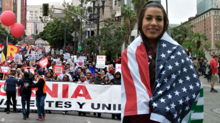 Marcha en Los Ángeles pide reconocimiento para trabajadores inmigrantes