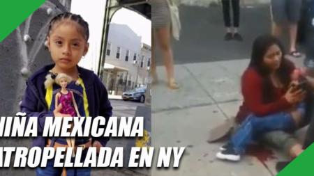 Niña mexicana de 4 años atropellada en NY