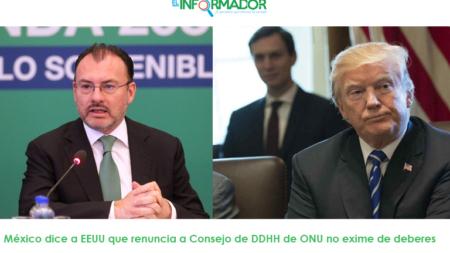 México dice a EEUU que renuncia a Consejo de DDHH de ONU no exime de deberes