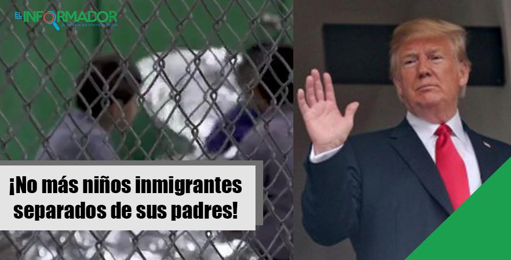 Trump firma una orden para no separar niños inmigrantes