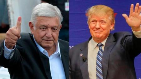 """Trump felicita a López Obrador por su victoria y promete """"trabajar con él"""""""