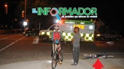 Atropellan a ciclista en Calle Burton SE