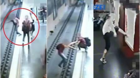 Tras discutir con su pareja, joven tira a desconocido a las vías del metro