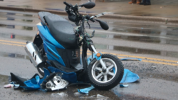 Aparatoso accidente de motocicleta