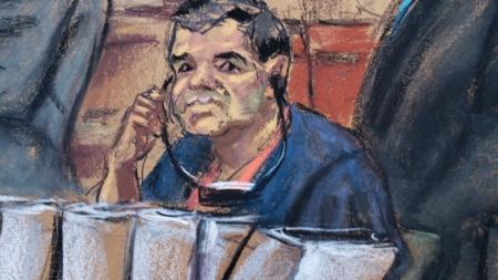Chapo se enfrenta a cadena perpetua en juicio con fuertes medidas seguridad