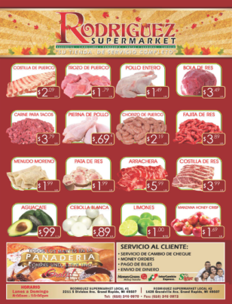 ESPECIALES DE SUPER MERCADO RODRIGUEZ