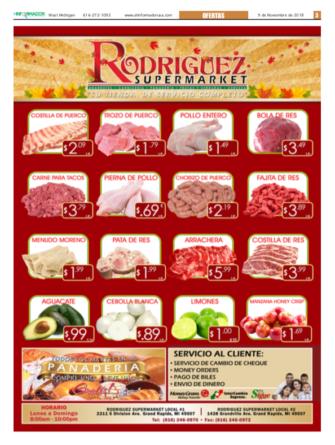 ESPECIALES DE RODRIGUEZ SUPER MARKET