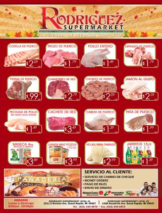 ESPECIALES DE SUPER MERCADO RODRIGUEZ