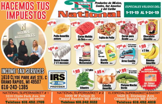 ESPECIALES NATIONAL SUPER MARKET
