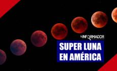 Super Luna en el continente Americano