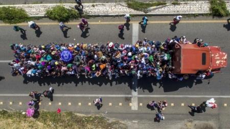 Nueva caravana migrante planea entrar a Estados Unidos