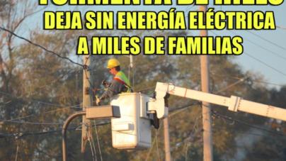 Tormenta de hielo deja sin energía eléctrica a miles de familias