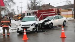 Accidente paraliza el tráfico en calle Burton por horas