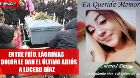 Entre frío, lágrimas y dolor le dan el último adiós a hispana quien murió misteriosamente
