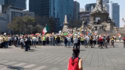 Marchan en contra de AMLO por sus 100 días de gobierno