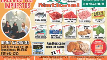 ESPECIALES DE NATIONAL SUPERMARKET