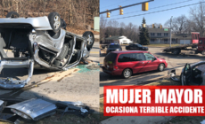 Mujer mayor ocasiona terrible accidente