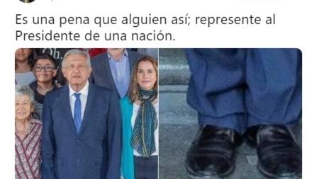 Levantan polémica al criticar los zapatos de AMLO