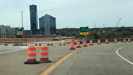 Remodelación en el puente del Grand River cumplen su primer mes