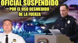 Oficial suspendido por uso desmedido de la fuerza