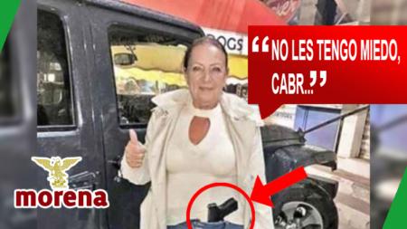 Senadora de Morena publica foto con arma de fuego