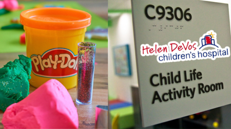 Colecta de Play-Doh para niños en Helen DeVos Children's