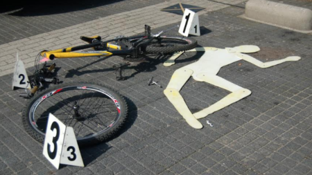 Fatal accidente de bicicleta