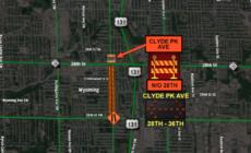 Clyde Park Avenue cerrada al norte de la calle 28