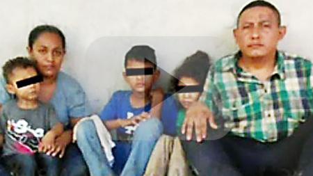 Familia hondureña secuestrada en México