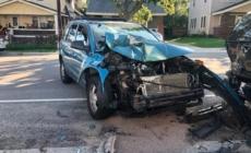 Aparatoso accidente automovilístico