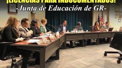 """¡LICENCIAS PARA INDOCUMENTADOS! """"Junta de Educación de GR"""""""