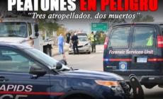 """Peatones en peligro  """"Tres atropellados, dos muertos"""""""