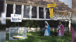 Jesús y la Virgen María, enjaulados y separados causa polémica