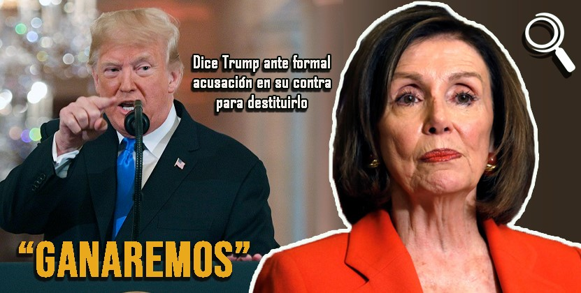 """""""Ganaremos""""la batalla de la destitución, dice Trump ante juicio político"""