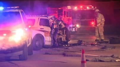 Un oficial resulta herido luego de un choque
