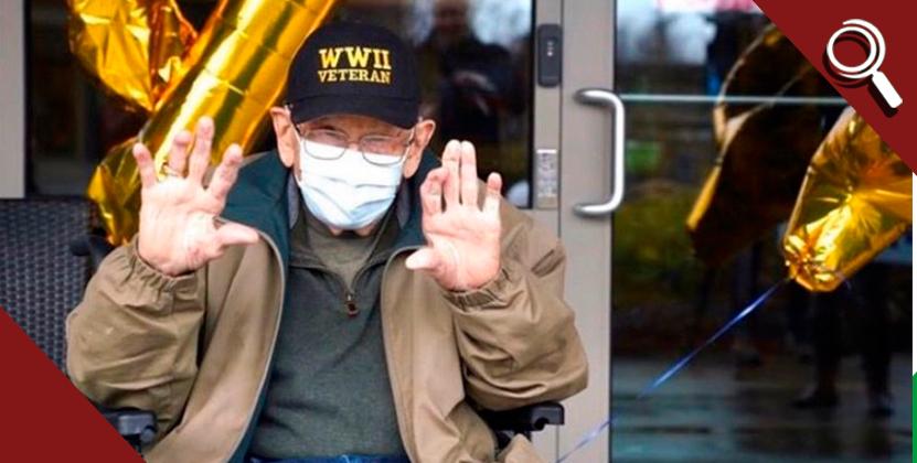 Abuelito de 104 años, la persona más vieja en vencer al coronavirus
