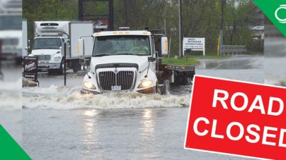 Carreteras del condado de Kent cerradas debido a inundaciones