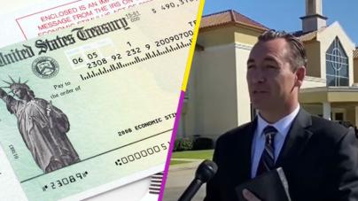 Pastor pide a feligreses que donen cheque del gobierno